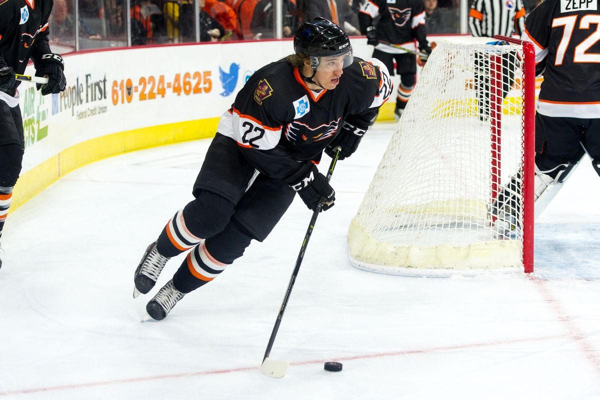 Blair Jones scores the game-tying goal to send the Phantoms into overtime against Norfolk