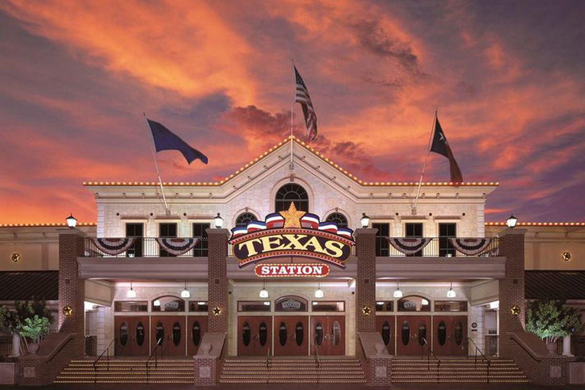 The exterior of the Texas Station Gambling Hall & Hotel, now shuttered with no known re-opening date.