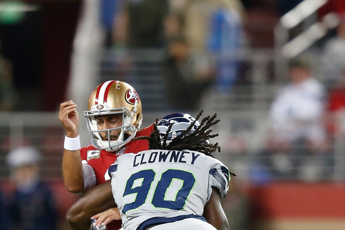 Seahawks 49ers All 22 Review Jadeveon Clowney Dominates On