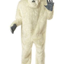 """How to be a sexy Yeti: Buy <a rel=""""nofollow"""">this</a> costume, ditch the mask and monkey feet, pair with cute shoes."""