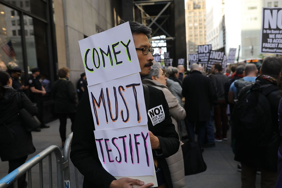 New York Reacts To Firing Of FBI Director James Comey