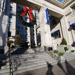 The Willard InterContinental hotel is famous for its Christmas decor, including a giant wreath and a 14-foot Christmas tree covered with White House Historical Association Christmas ornaments. After you take a gander, head to the Round Robin Bar for seaso