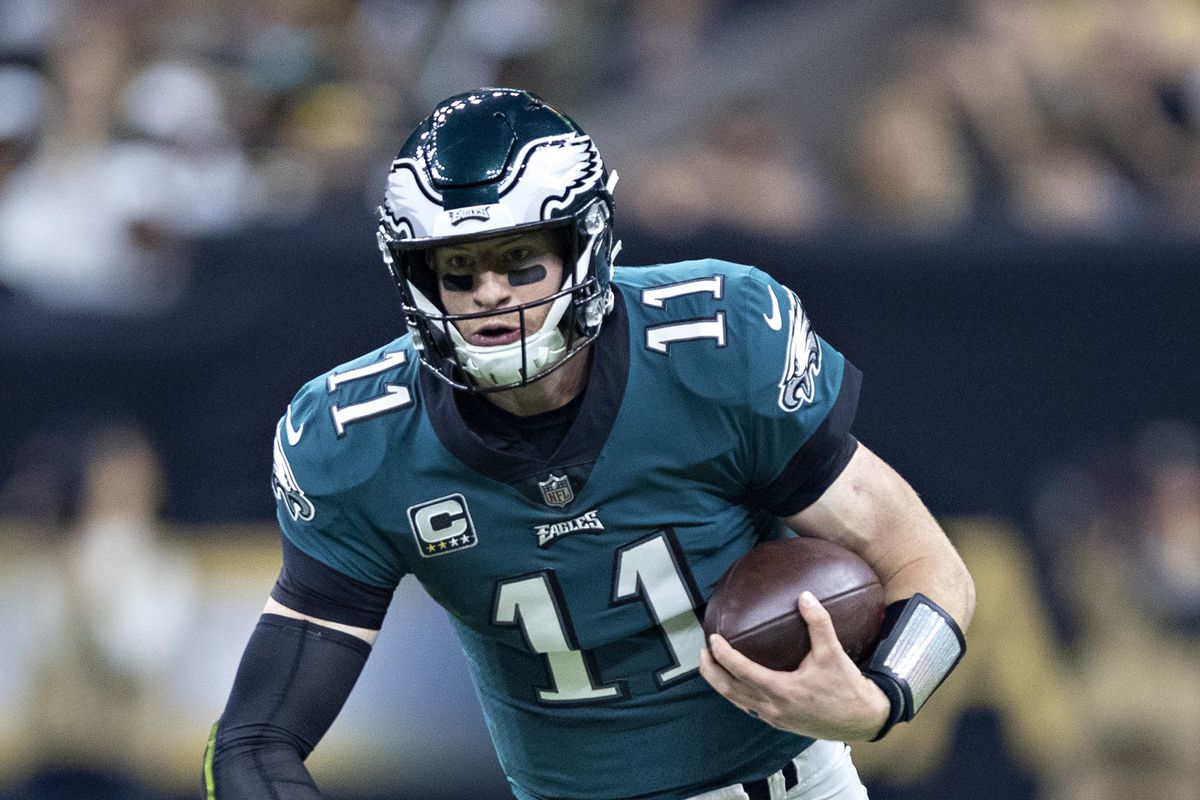 "a2ffe77a024 Eagles News: Giants player says Carson Wentz's mobility ""doesn't look the  same"""