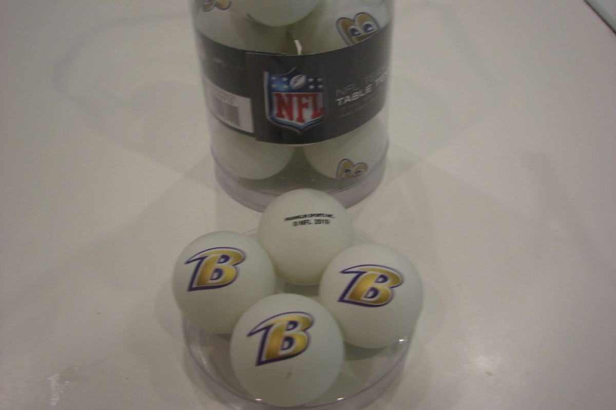 Franklin Sports NFL Ravens Ping-Pong Balls
