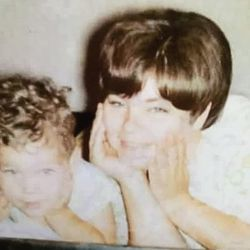 Larry Potash with his mom, Loretta.   Provided