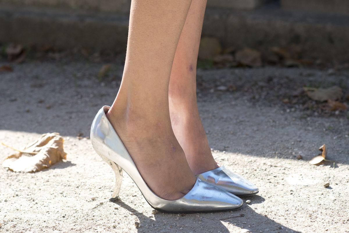 Roger Vivier pumps spotted during Paris Fashion Week spring 2016