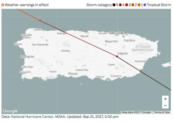 Why Hurricane Maria Is Such A Nightmare For Puerto Rico Vox - Puerto rico cities towns map