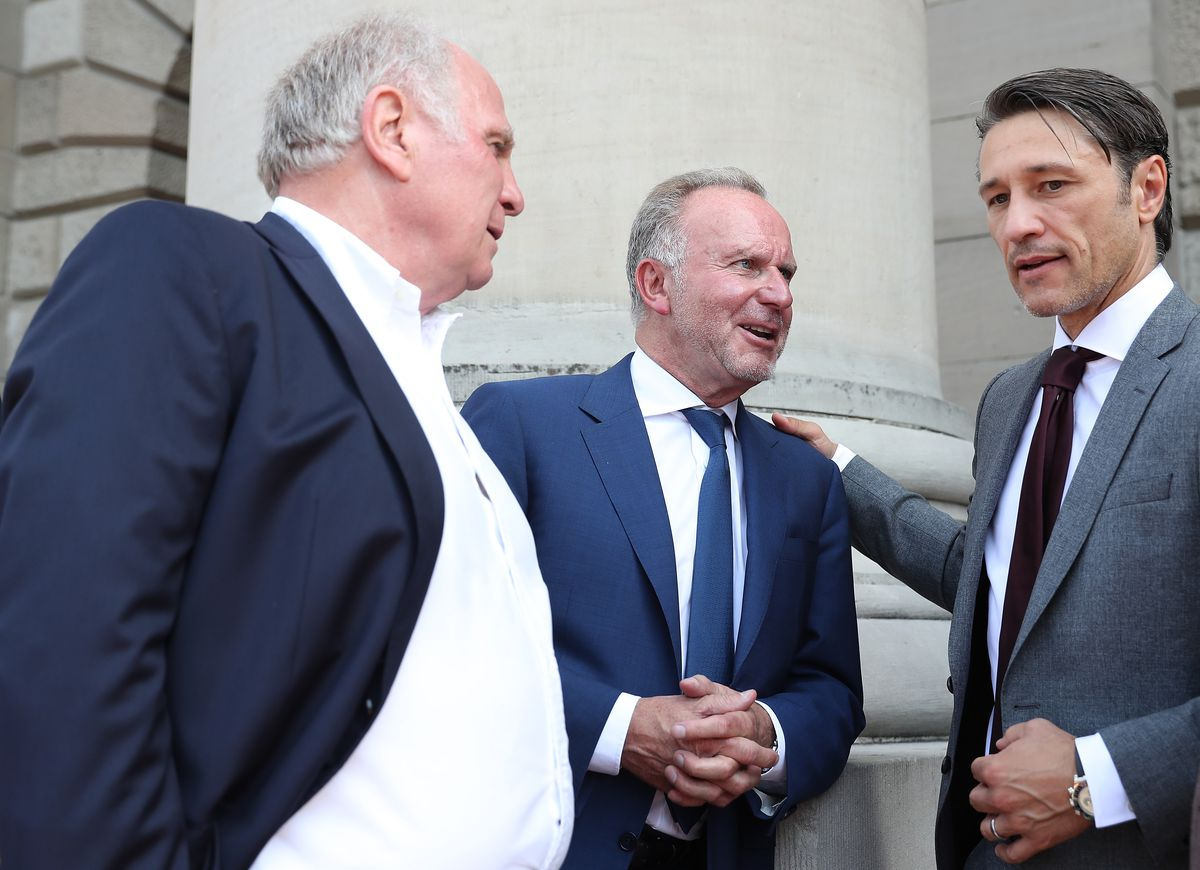 Bavarian Prime Minister Markus Soeder Welcomes Bundesliga Champion And DFB Cup Winner FC Bayern Muenchen