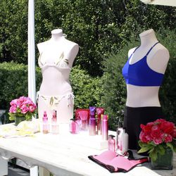 Swimwear and VS products were the decor.