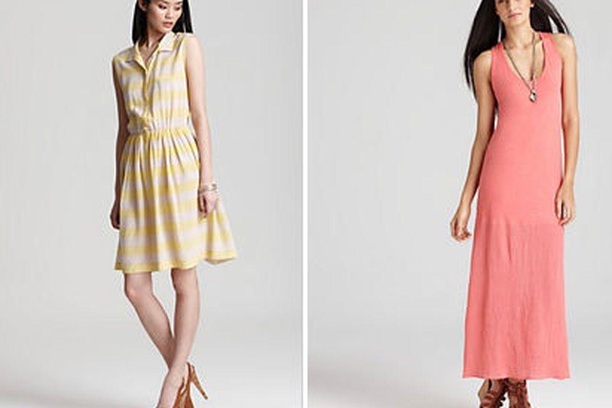 "<a href=""http://www1.bloomingdales.com/shop/product/pippa-dress-silk-stripe?ID=604172&amp;CategoryID=21846&amp;LinkType=#fn=spp%3D19%26ppp%3D96%26sp%3D2%26rid%3D19"">Silk stripe dress by Pippa Dress</a>, $166.60 (was $238), and <a href=""http://www1.b"
