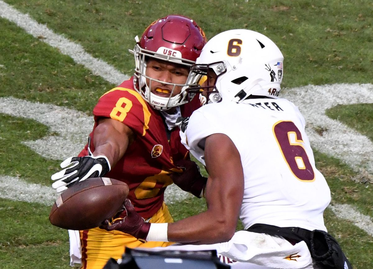 USC Trojans defeated the Arizona State Sun Devils 28-27 during a NCAA Football game.
