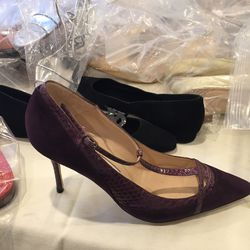 Heel with exotic trim, size 37, $150