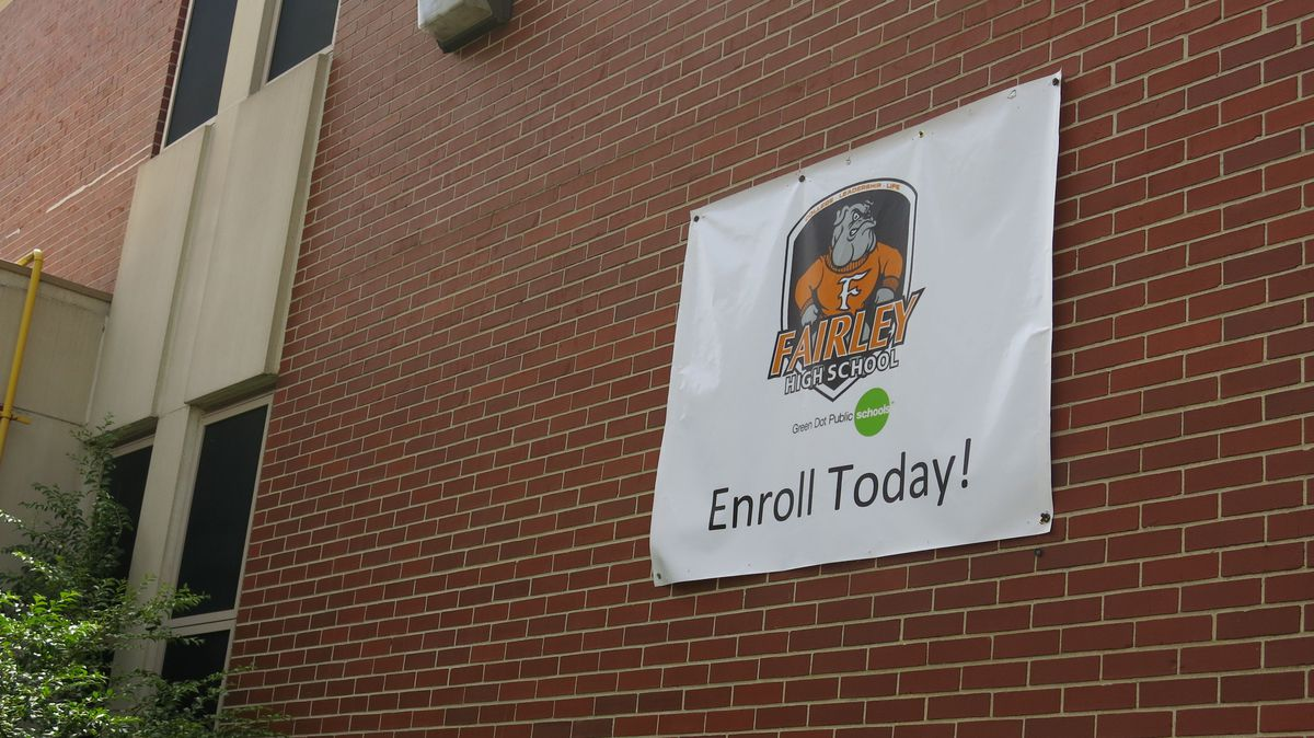 Fairley High School's new logo features Green Dot – but not prominently.