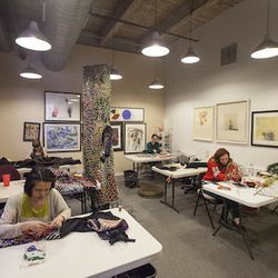 """The team in the studio comprises five to 30 artists at any given time. """"Everyone on our team is an artist or maker in their own right,"""" Cave said. To apply for a position at the studio, each candidate goes through a day-long skills test."""