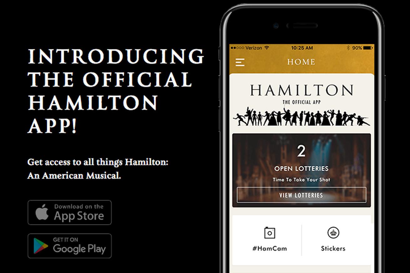 Lin-Manuel Miranda's Hamilton now has an app where you can score $10 tickets