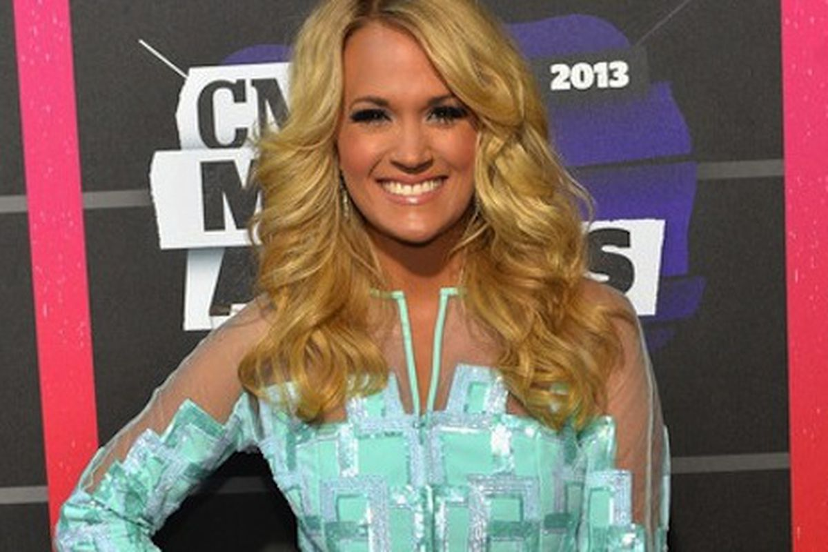 """Underwood's outfit up for auction, image via <a href=""""http://www.countrymusicislove.com/tag/2013-cmt-music-awards/"""">Country Music is Love</a>"""