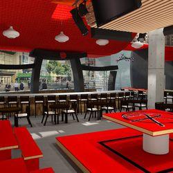 Sake Rok stage area rendering Ray Designing Environments