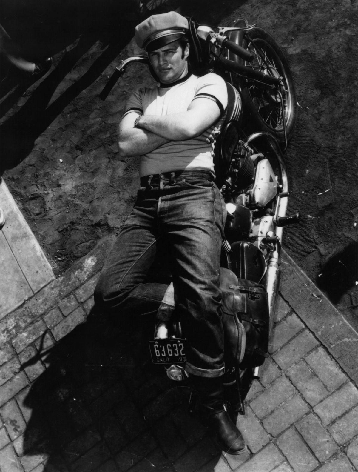 Marlon Brando blue jeans