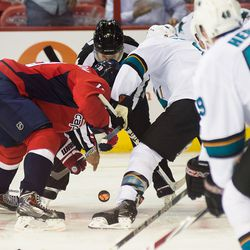 Backstrom and Pavelski Faceoff