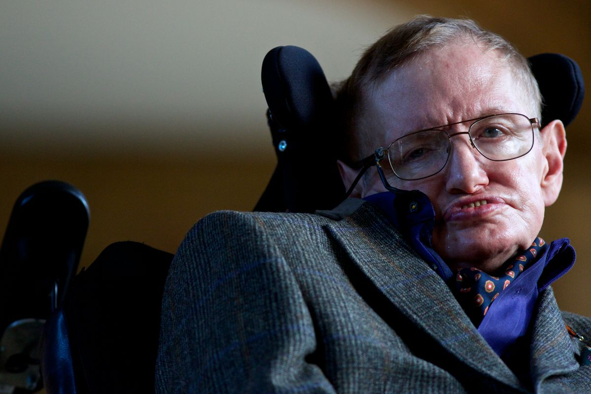 Stephen Hawking, before a screening of the new film.