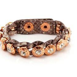 "<a href=""http://www.henribendel.com/Rivet-Wrap-Bracelet/22104202090193,default,pd.html?"">Rivet Wrap Bracelet</a>, $68"