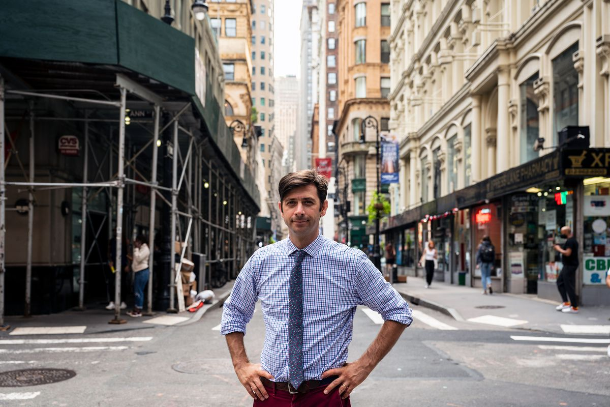 Councilmembe Stephen Levin (D-Brooklyn) has been working to regulate rent on some commercial spaces, Sept 14, 2021.