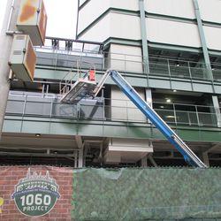 Left-field elevator shaft -