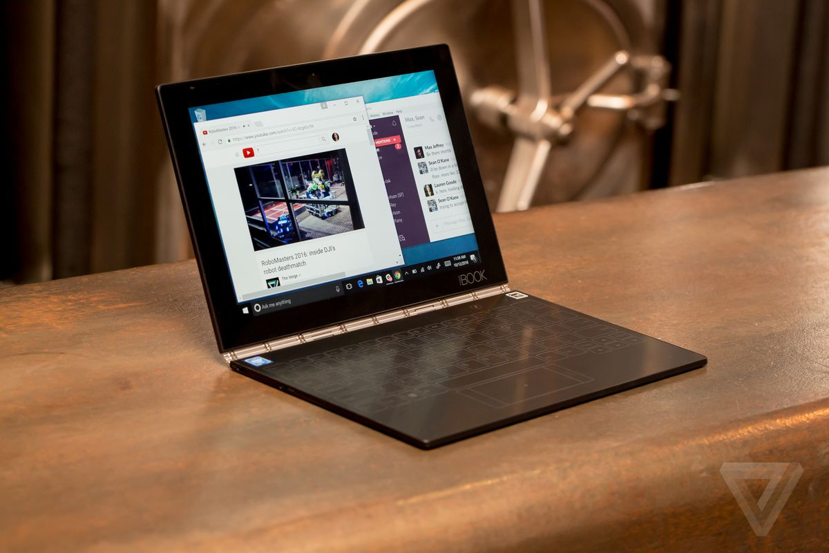 Lenovo Yoga Book Review The Unbearable Lightness Of Computing The Verge