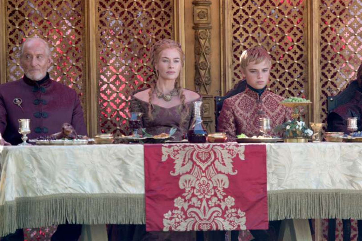 The Purple Wedding.Game Of Thrones Cersei Lannister Explained By Her Costumes Vox
