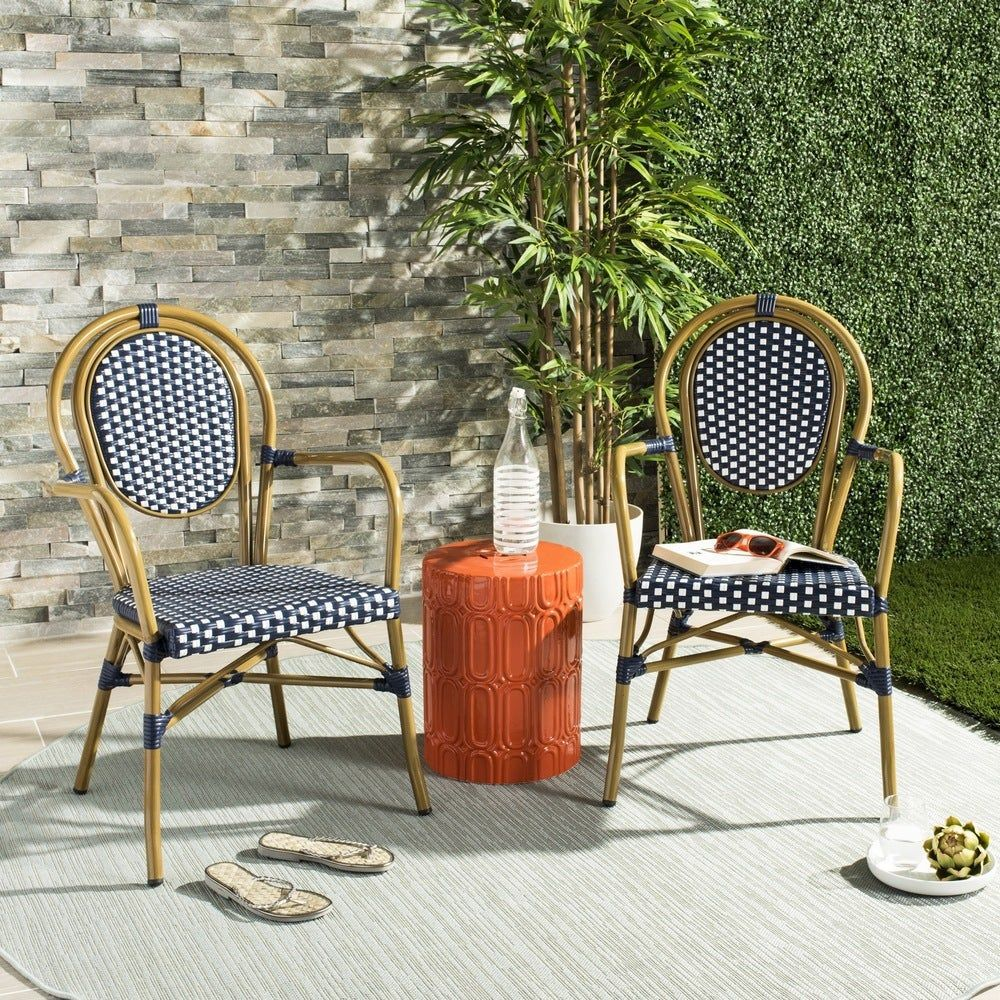 Bentwood and woven back chair.