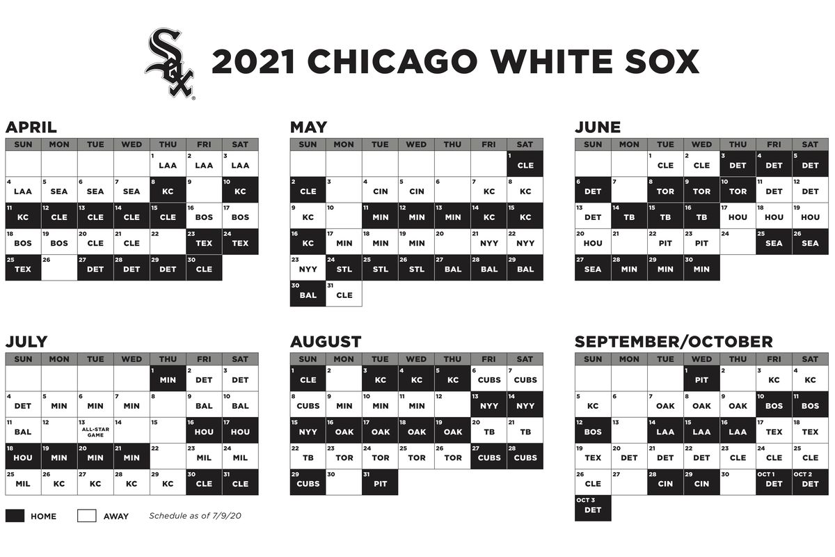 Reds Schedule 2022 Calendar.2021 White Sox Schedule Doubling Down On The Central South Side Sox