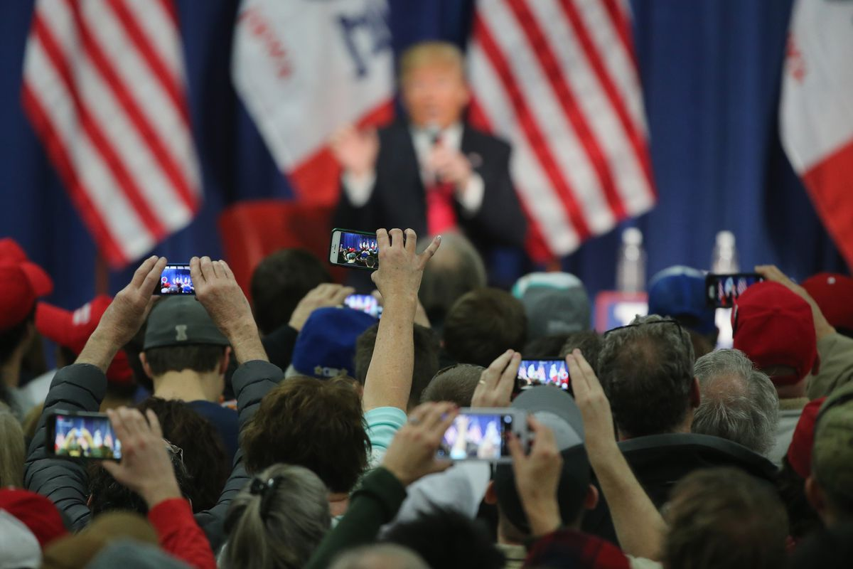 Donald Trump Campaigns In Western Iowa Day Before State's Caucus