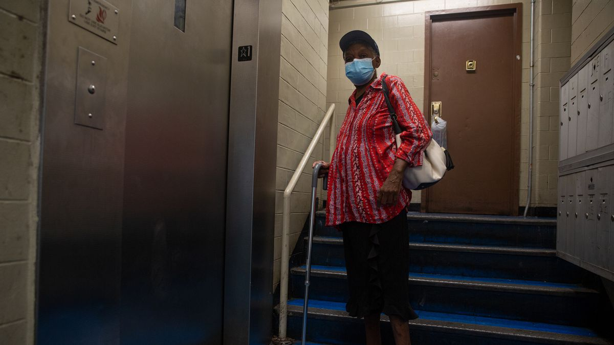 A pair of broken elevators stranded Jacquelyne Pierre in the lobby of her NYCHA building in Fort Greene, Brooklyn after she tried to return home from kidney dialysis.