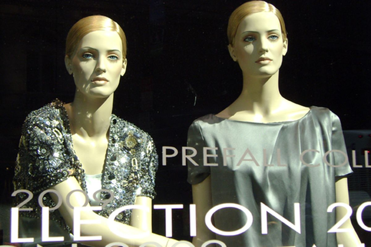 """Bored mannequins at Escada on Fifth Avenue. Image via <a href=""""http://www.flickr.com/photos/jetsetcd/3747274053/in/pool-rackedny"""">Jetsetcd</a>/Racked Flickr Pool"""