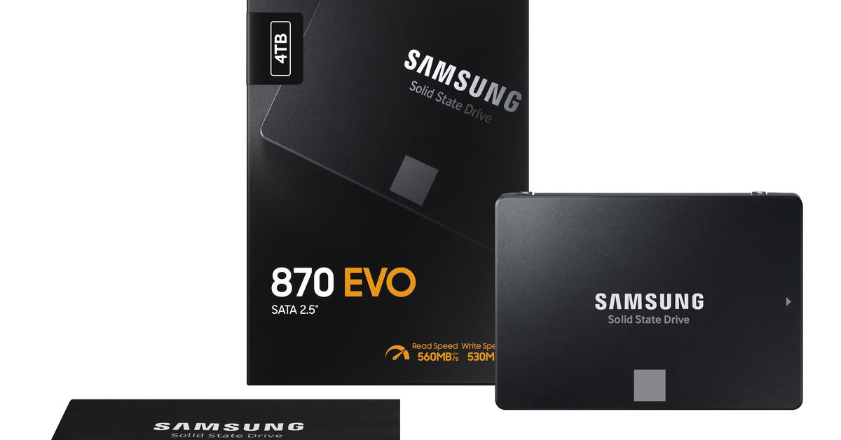 Samsung's new 870 Evo SSD brings faster speeds lower prices – The Verge