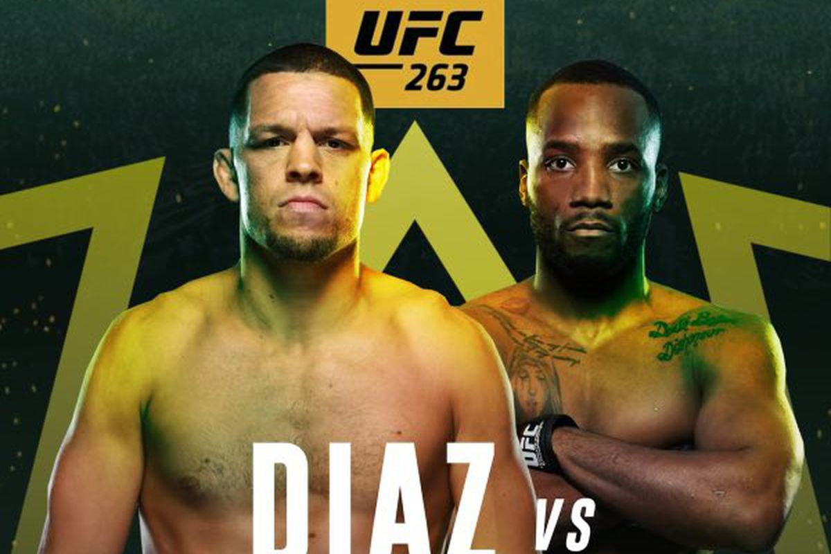Photo: Leon Edwards vs Nate Diaz poster for UFC 263