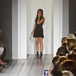 Victoria Beckham appears after showing her Spring 2013 fashion collection on Sunday, Sept. 9, 2012 in New York.