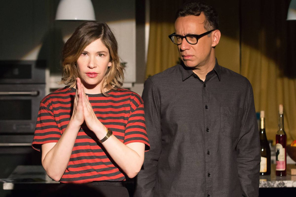 Carrie Brownstein and Fred Armisen on Portlandia.