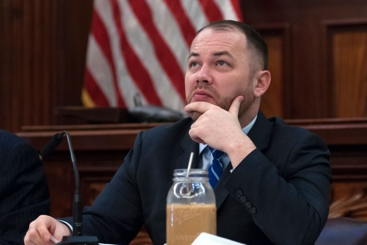 City Council Speaker Corey Johnson chairs a hearing on the Amazon HQ2 deal, Jan. 30, 2019.