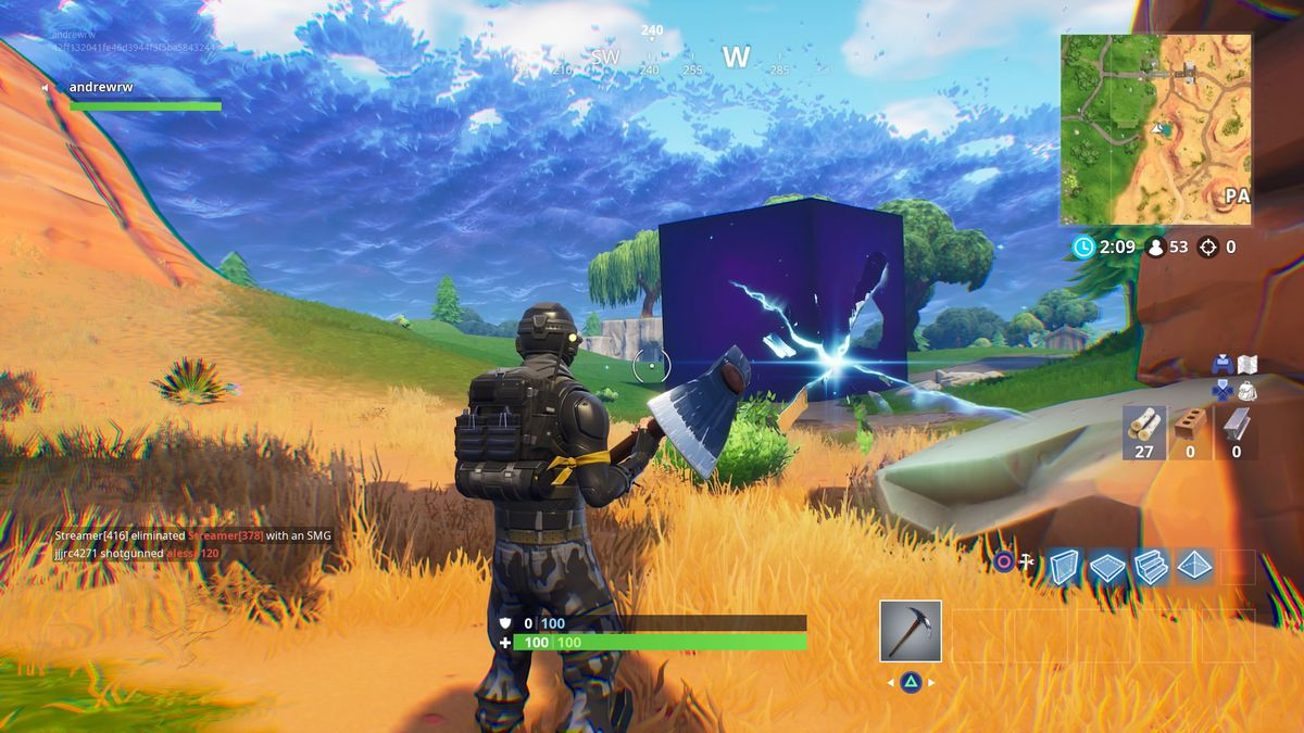 Fortnite's mysterious cube keeps moving, and I can't stop