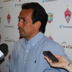 """Oscar Pareja comments on the response from his players after the game. """"I see in their faces that they knew we could have gotten three points, and that's a big improvement."""""""