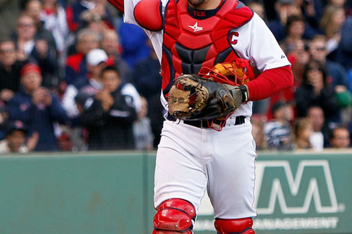 Jason Varitek of the Boston Red Sox (Photo by Jim Rogash/Getty Images)