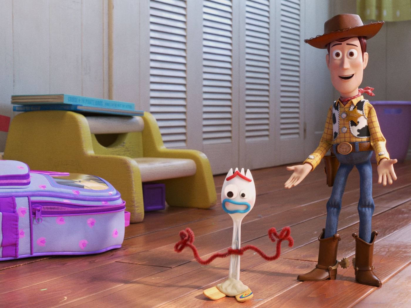 Toy Story 4 forky i am not a toy gym sack draw string bag