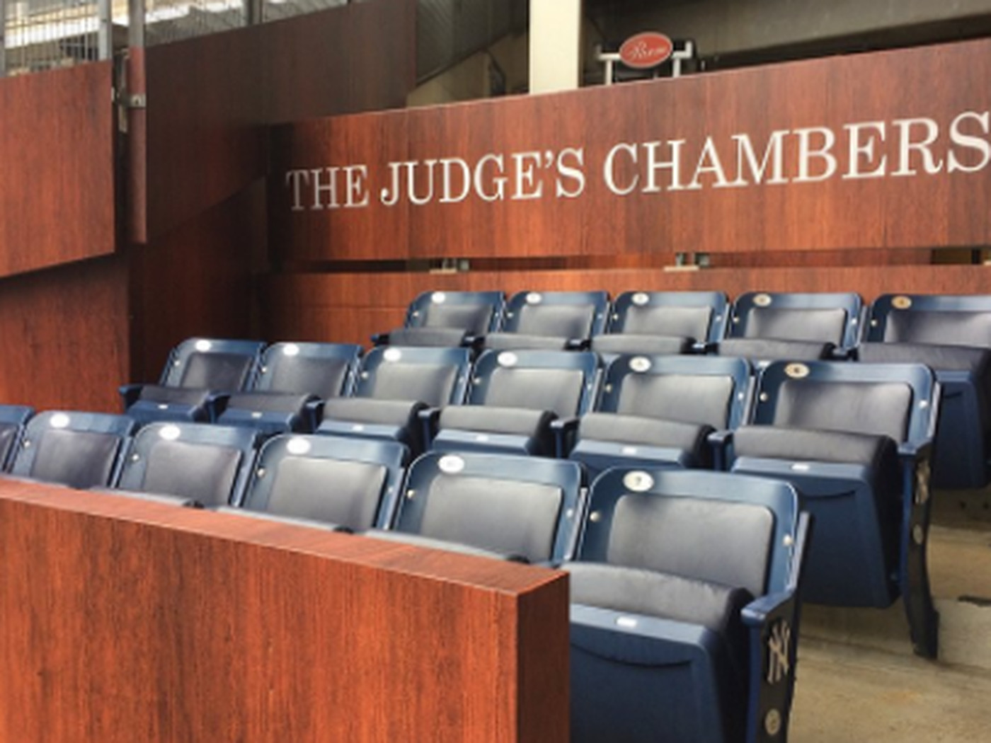 The Yankees Have Installed The Judge S Chambers To Honor Aaron Judge Their Extremely Large Homer Man Sbnation Com