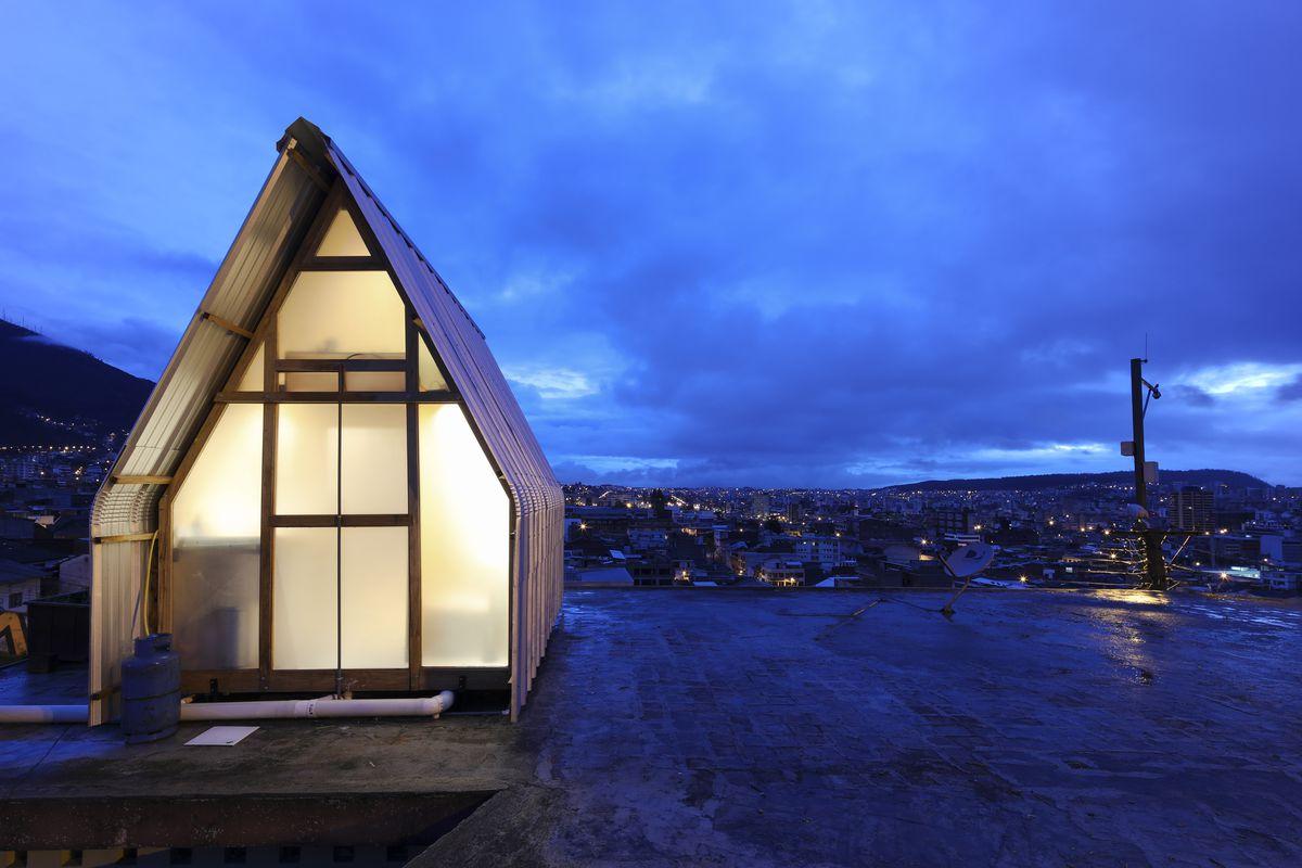 A-frame timber house