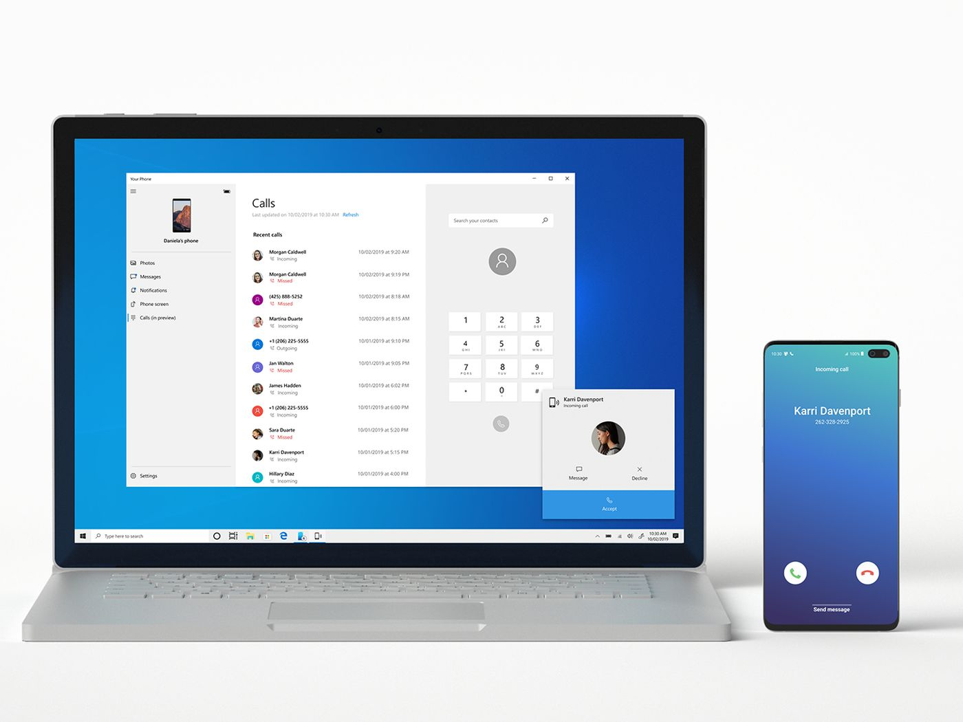 How To Make And Receive Calls On Your Pc With The Your Phone App The Verge