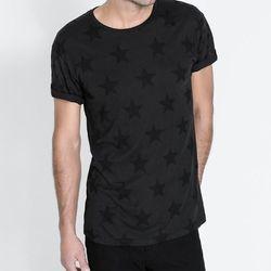 "<strong>Zara</strong> Stars Tee in Black, <a href=""http://www.zara.com/us/en/man/t-shirts-and-sweatshirts/stars-t-shirt-c269237p1402009.html"">$29.90</a>"