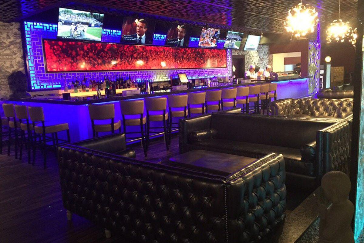 The bar area at Royal Hotpot Sushi & Bar