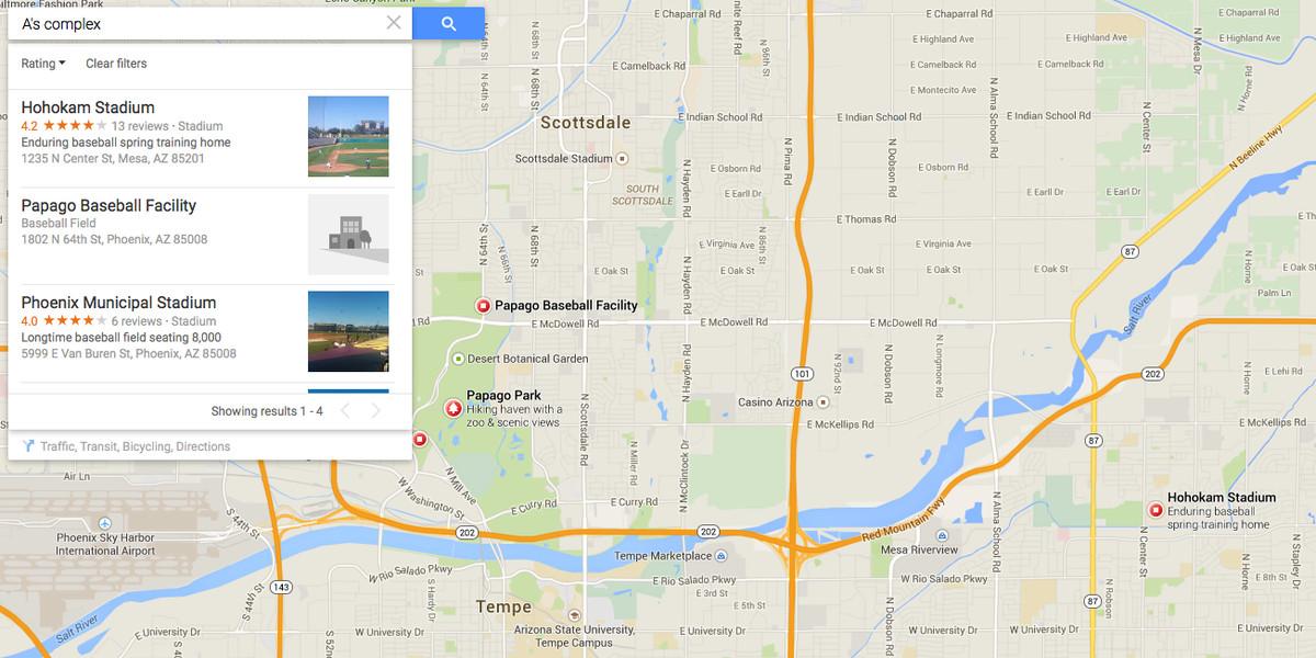 a's complex google map