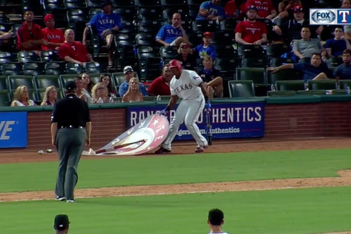 Adrian Beltre Gets Tossed For Moving On-Deck Circle